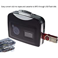 Digitnow!Portable Digital USB Cassette Audio Music Player and Tape-to-MP3 Converter (Driver and Computer not Required)
