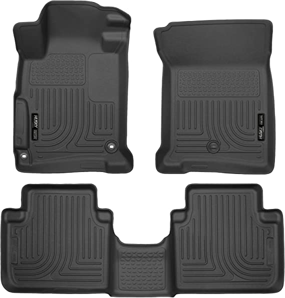 Husky Liners Fits 2013-17 Honda Accord Sedan Weatherbeater Front & 2nd Seat Floor Mats