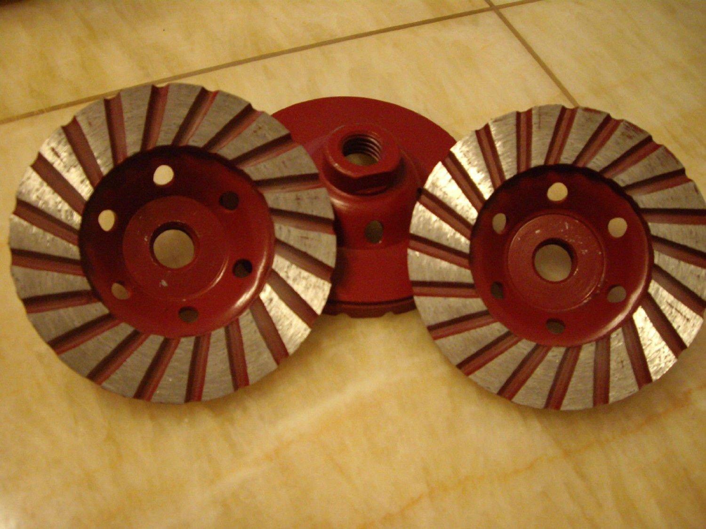 4 1/2'' / 115mm (2 Pieces) PREMIUM Grade Turbo Row Concrete Diamond Grinding Cup Wheel fits Makita Wet Polisher DEWALT Grinder