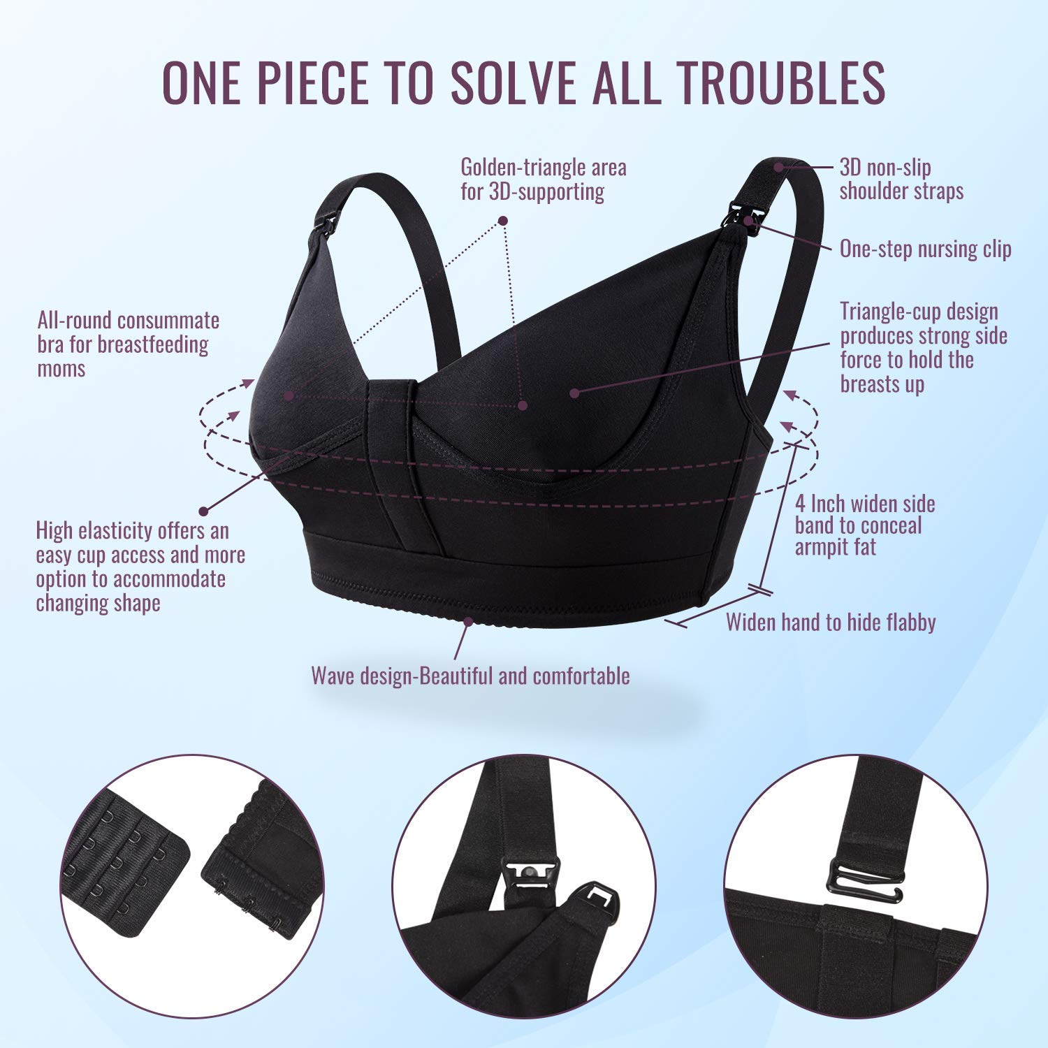 Hands Free Pumping Bra Lupantte Breastfeeding Bra Comfortable for All Day Wear and Adaptable with No-Slip Support Breast Pump Nursing Bra with Pads Multitasking. Small
