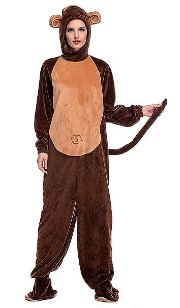 Aivtalk - Pijama Onesie para Unisex Adulto Mujer Hombre Disfraces Animal Fantasía para Halloween Navidad Carnaval