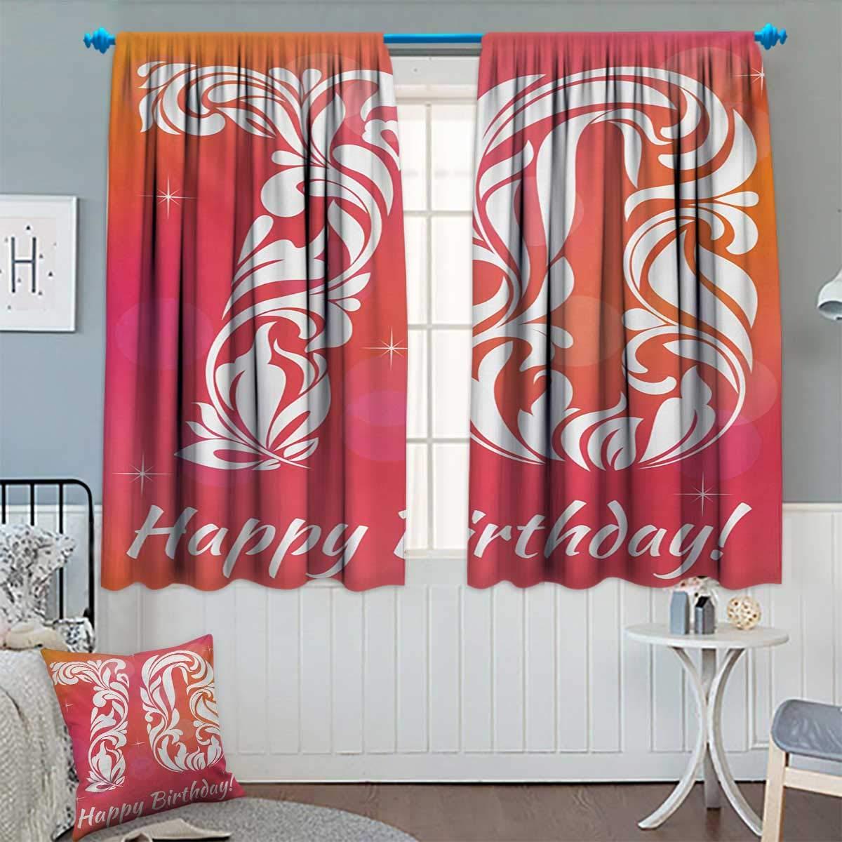 Amazon.com: Cortina para ventana, diseño de 70 cumpleaños ...