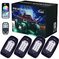 YiLaie RGB LED Rock Lights, 60 LEDs High Brightness Multifunction Neon underglow Waterproof Light with App/RF Control…