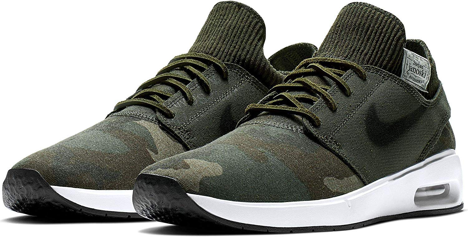 Nike Sb Air Max Janoski 2 PRM Mens At5878-203 Size 9, Iguana/Black-cargo Khaki