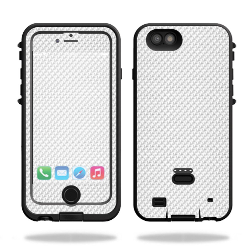 MightySkins Skin for LifeProof FRE Power iPhone 6 Plus Case – White Carbon  Fiber  d1f2e6b57327