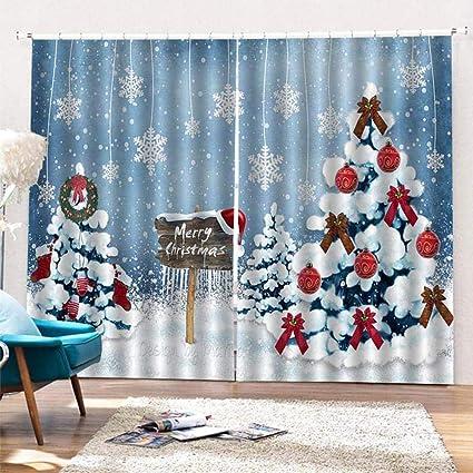 Rideau De Noel Fenetre Rideau De Douche Decoration De Noel Interieur