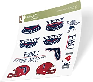 Florida Atlantic University FAU Owls NCAA Sticker Vinyl Decal Laptop Water Bottle Car Scrapbook (Type 2 Sheet)