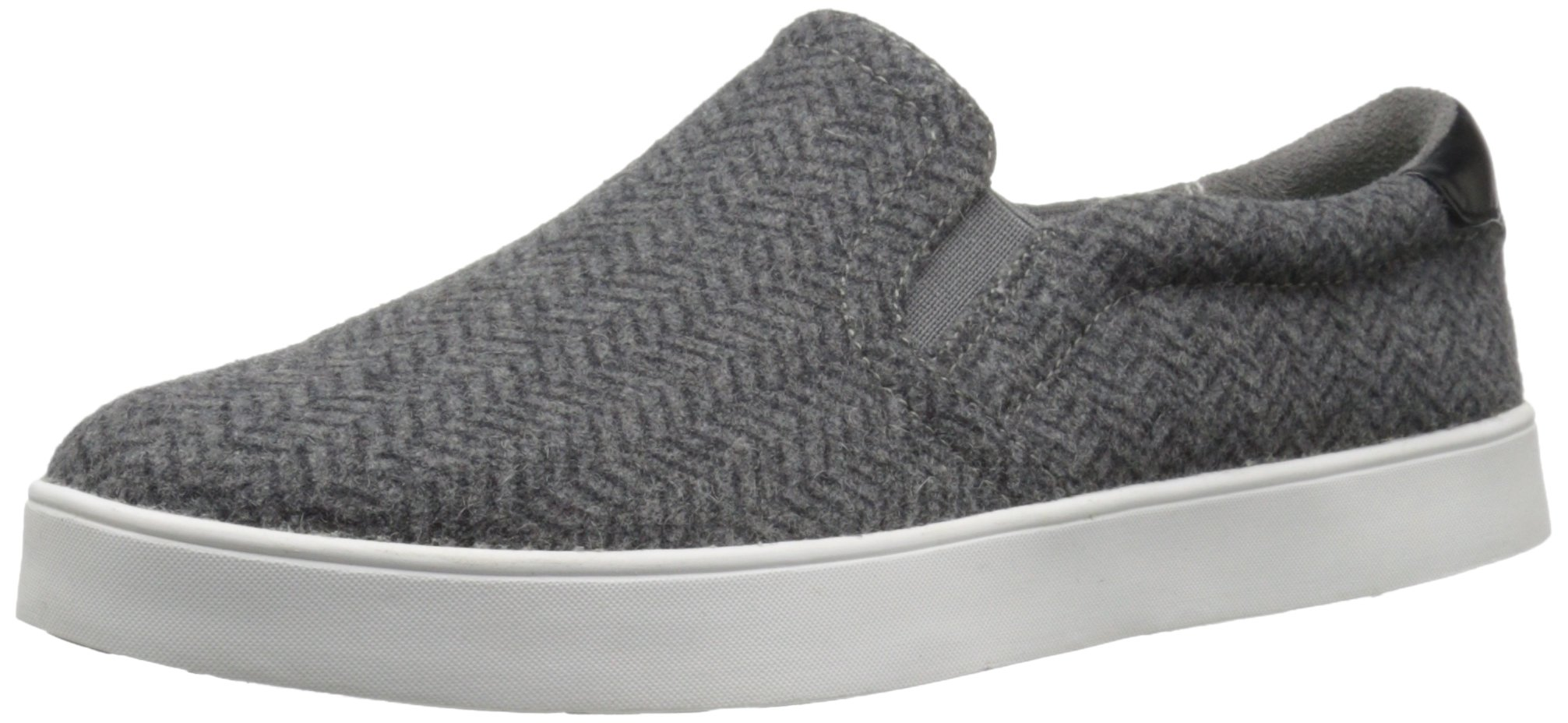 Dr. Scholl's Shoes Women's Madison Fashion Sneaker, Grey/Black Herringbone Flannel, 6 M US
