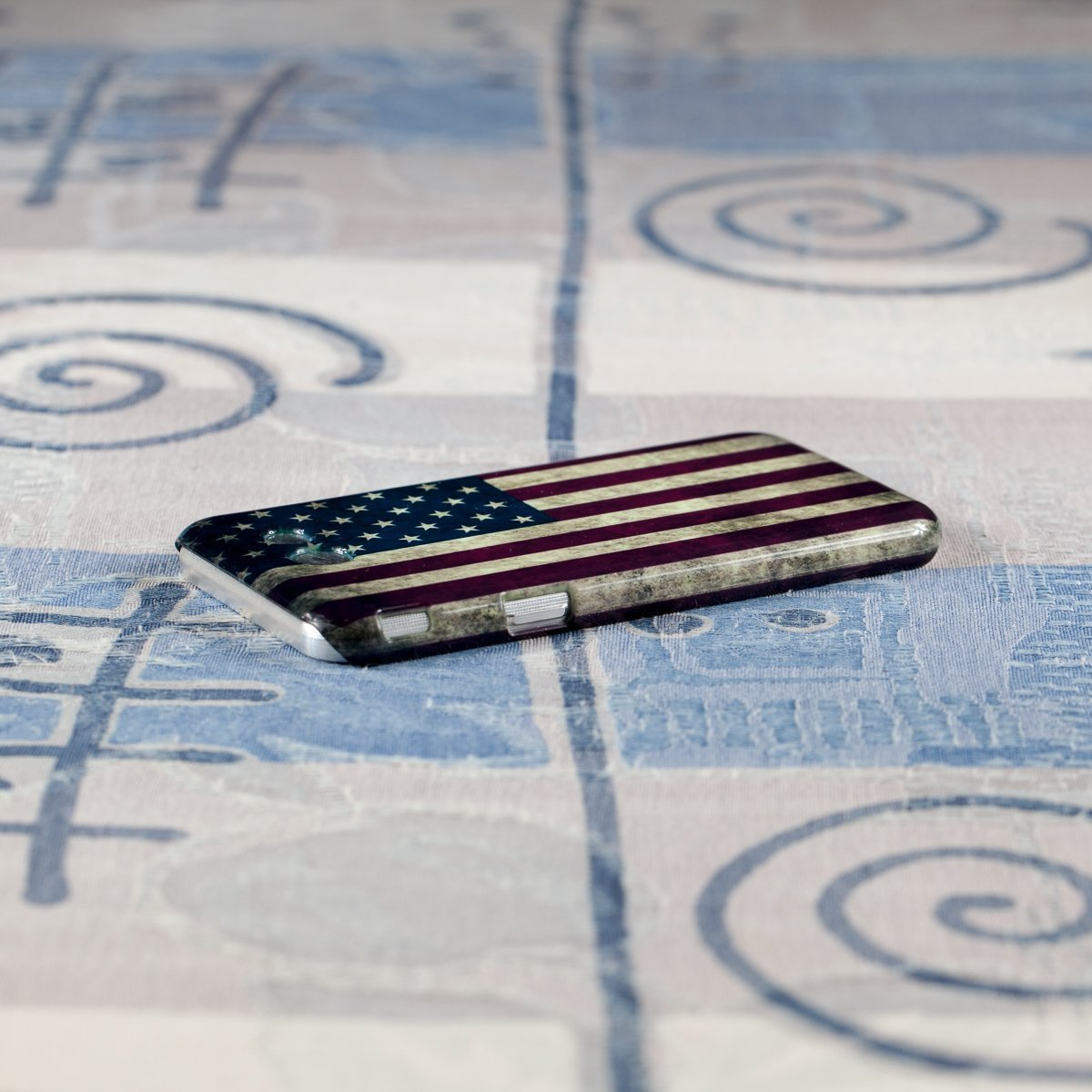 Slim Case for Samsung Galaxy J3 (2017) J327, Emerge, Eclipse, Prime. USA Flag. by Pacography