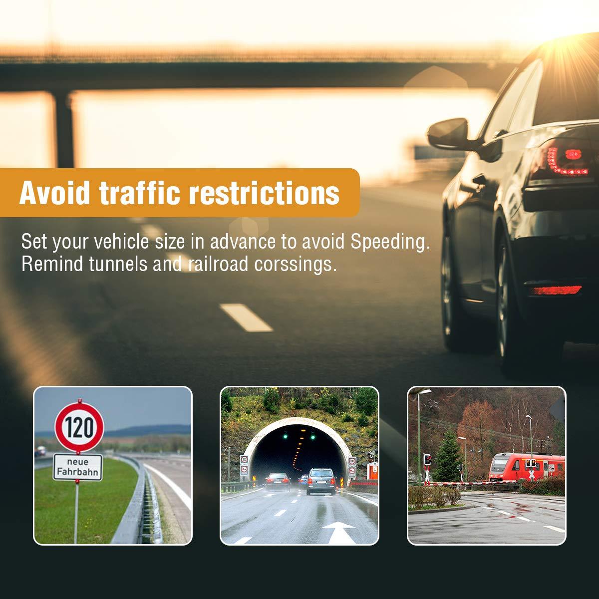 Tvird GPS Auto du Europe 9 Pouces Navi Appareil de Navigation avec mises /à Jour de Carte /à Vie Gratuite Toute leurope pour lautobus de Voiture /Écran Tactile de Voiture Navigation multilingue