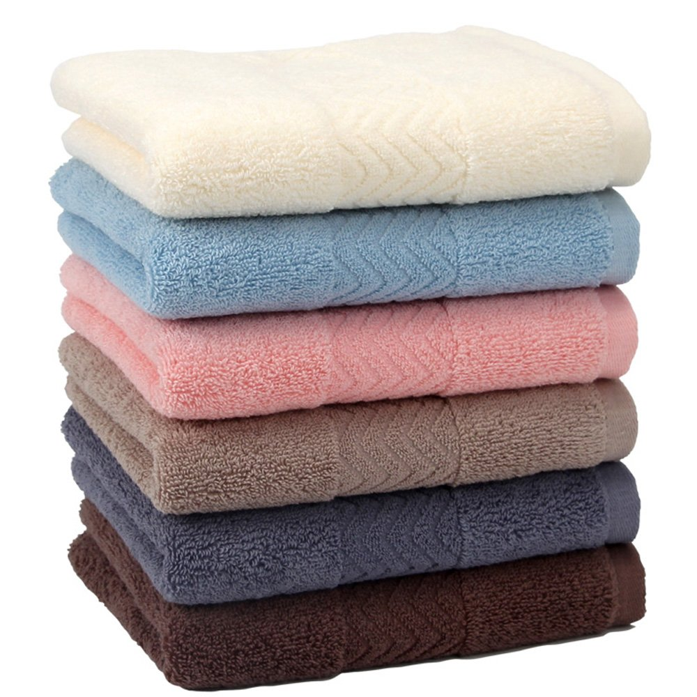 Luxury Hotel and Spa Towel,Robasiom Soft 6 Lovely Colours Hand Towels for Bathroom(set of 6)