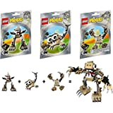 LEGO, Mixels Series 3 Bundle Set of Spikels, Footi (41521), Scorpi (41522) and Hoogi (41523)