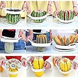 1pcs, Convenient Kitchen Fruit Cutting Tools Melon Cutter Slicer Cutter Watermelon Cantaloupe Knife Random Color