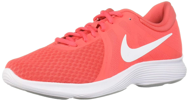 Ember Glow White - Pink Glaze Nike Women's Revolution 4 Sneaker,