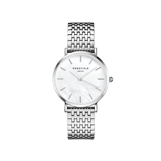 Rosefield Reloj Analógico para Mujer de Cuarzo con Correa en Acero Inoxidable UEWS-U22: Amazon.es: Relojes