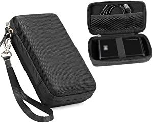 CaseSack Instant Printer Case for Kodak Mini 2 HD Wireles, Mini Mobile Wi-Fi & NFC Printer, Pickit M2, SereneLife 2x3 Instant Porter Printer, Mesh Pocket for Photo Paper and Cable (Black)