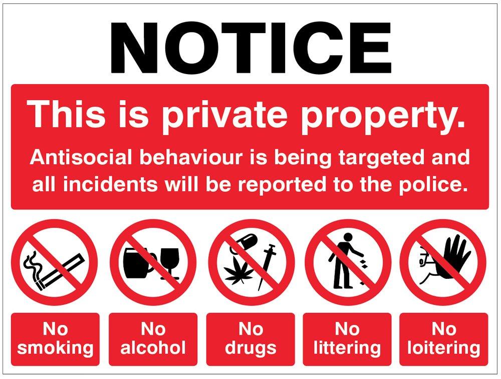 Caledonia Signs 27113K - Letrero de propiedad privada ...