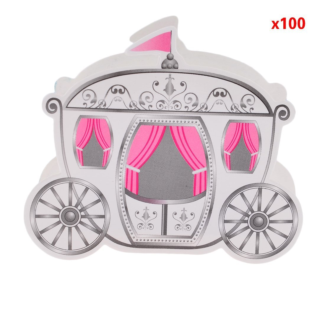 100 Cinderella Fairy Tale Carriage Wedding Gift Favor Candy Boxes ...