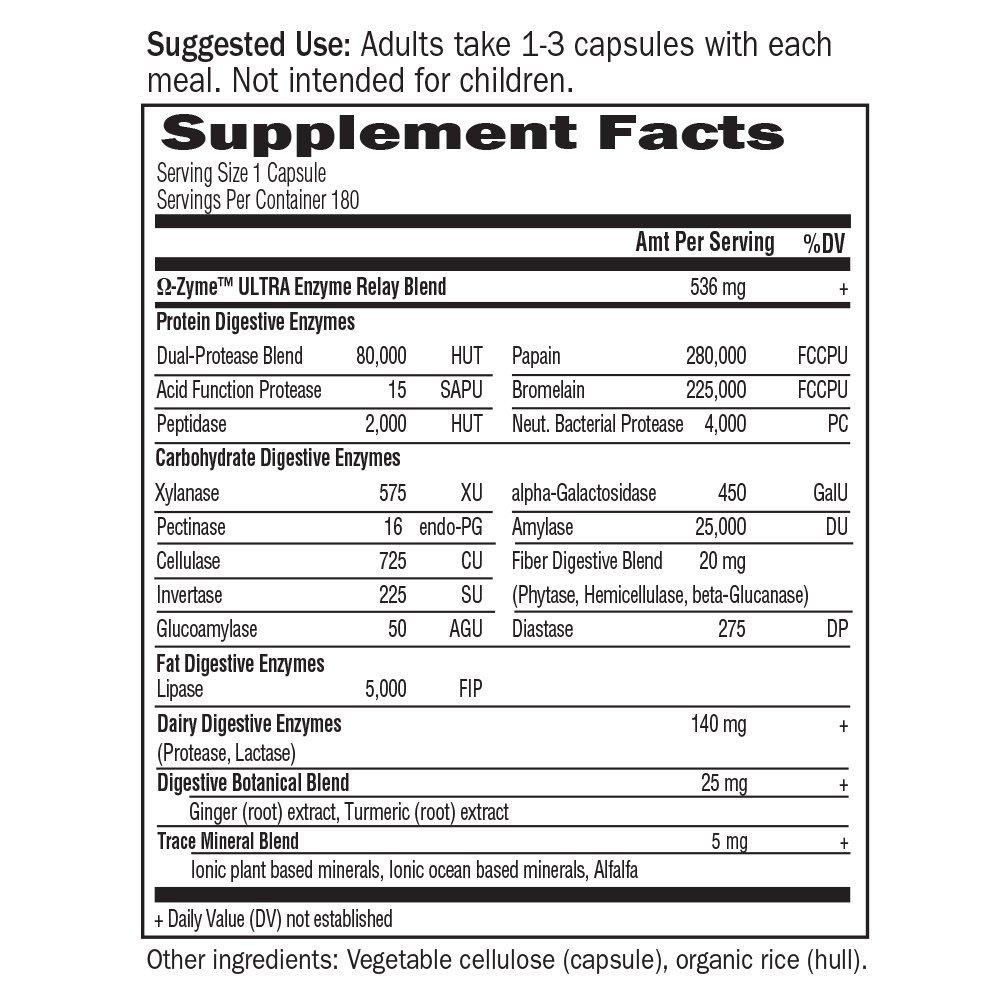 Amazon.com: Mezcla superior de enzimas digestivas Omega Zyme ...