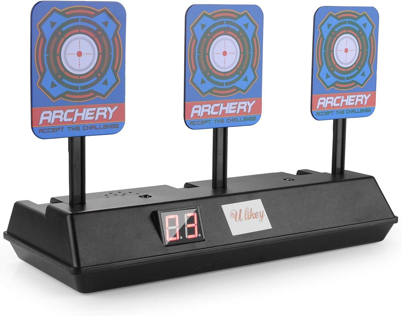 Herefun Objetivo para Nerf, Objetivo de Puntuación Electrónico - Diana Compatible para Nerf Disparos Automáticos Target de Los Niños Juguete, Nerf Juguete Pistolas N-Strike Elite/Mega/Rival Serie