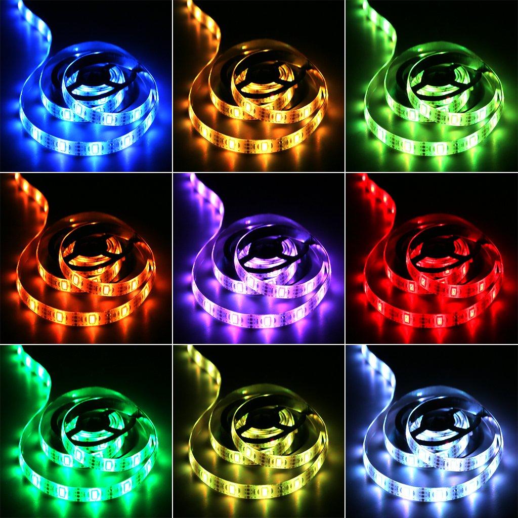 Hikenri Battery Powered Led Strip Lights 17 Keys Remote Controlled Diy Indoor 694090000318 Ebay