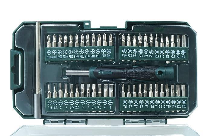 Juego 50pz puntas destornillador alargador maletín 9209859 ...