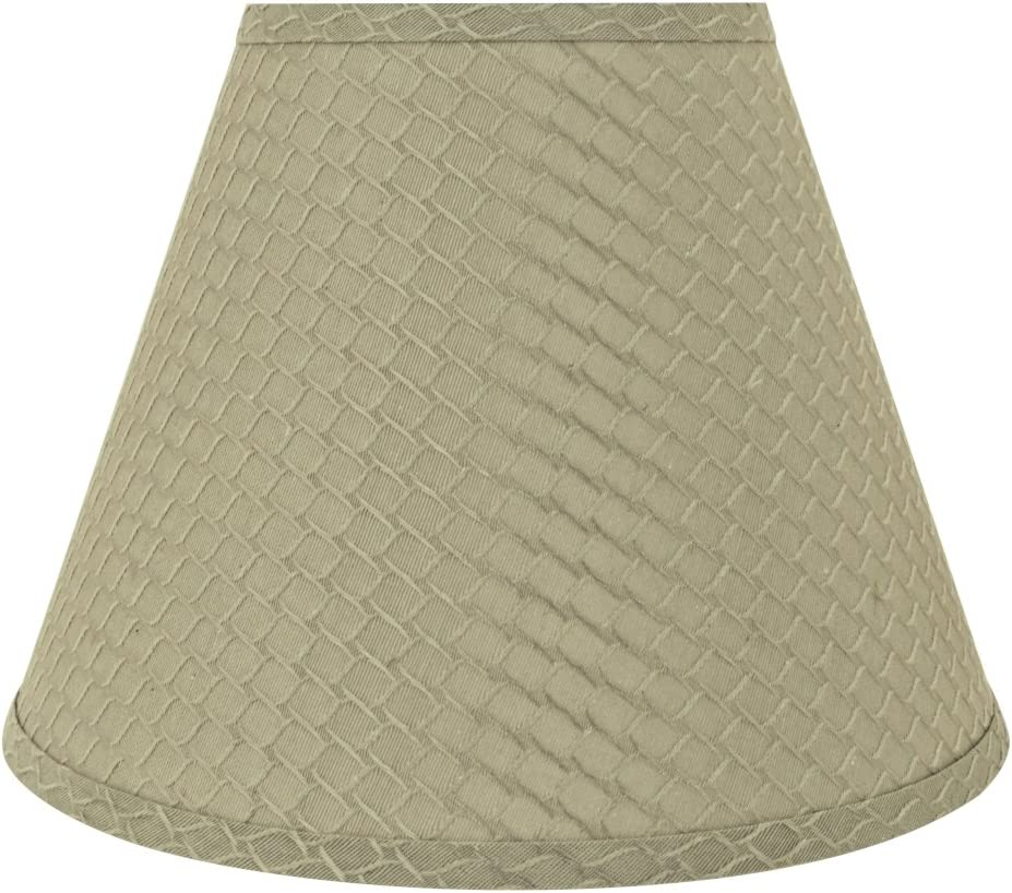 Aspen Creative 32624 Transitional Hardback Empire Shaped Spider Construction Lamp Shade in Sand Yellow, 12 Wide 6 x 12 x 9