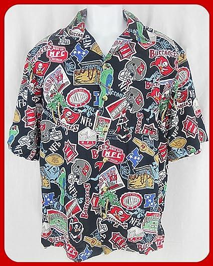 Amazon.com   TAMPA BAY BUCCANEERS NFL LICENSED HAWAIIAN SHIRT (XL ... da6f93afa