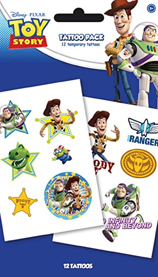 Disney Toy Story Characters nuevo oficial Temporary Tattoo Pack ...