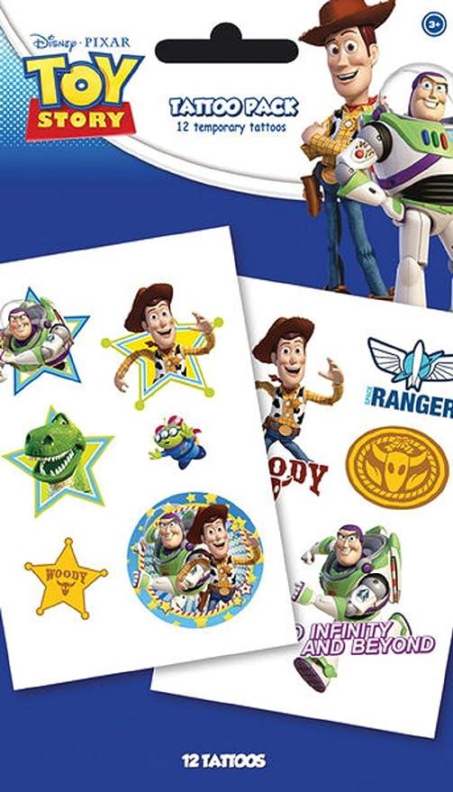 Disney Toy Story Characters nuevo oficial Temporary Tattoo Pack: Amazon.es: Juguetes y juegos