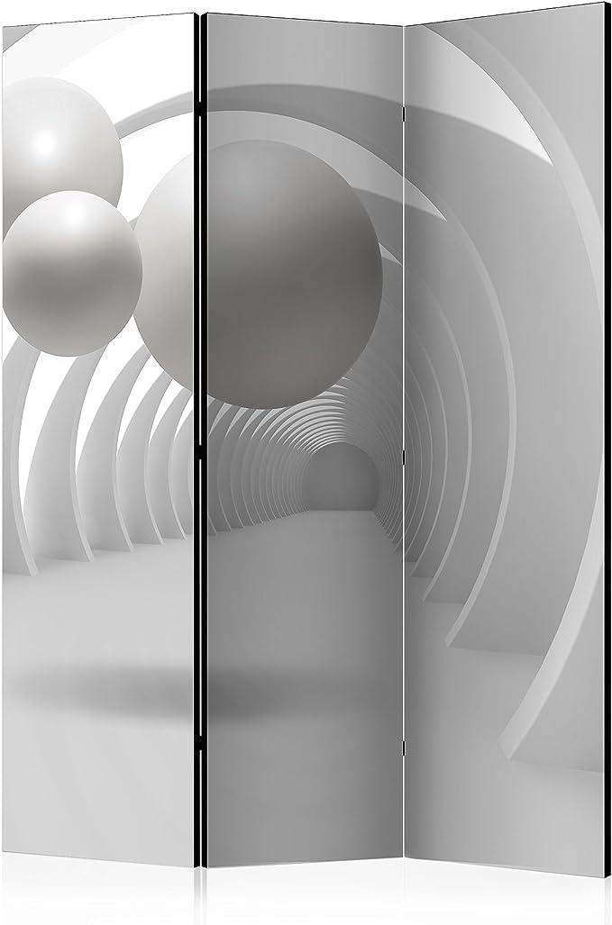 murando Biombo 3D Optica 135x172 cm de Impresion Bilateral en el Lienzo de TNT de Calidad Decoracion Foto Biombo de Madera con Imagen Impresa Separador Grande Home Office Gris a-B-0034-z-b: Amazon.es: Hogar