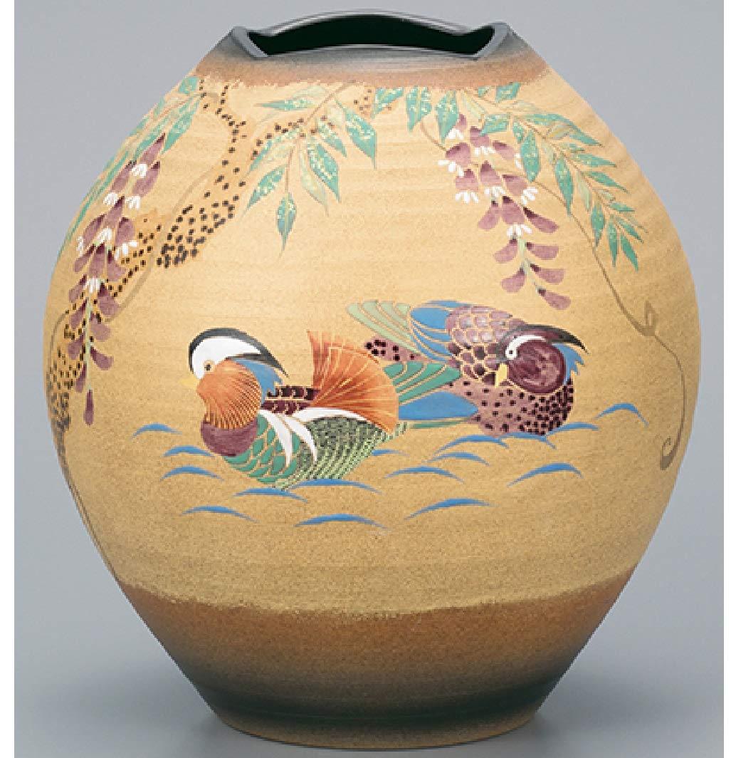 九谷焼 花瓶 8号 おしどり 古田弘毅 AP2-1379 275970 B00CBO82XA