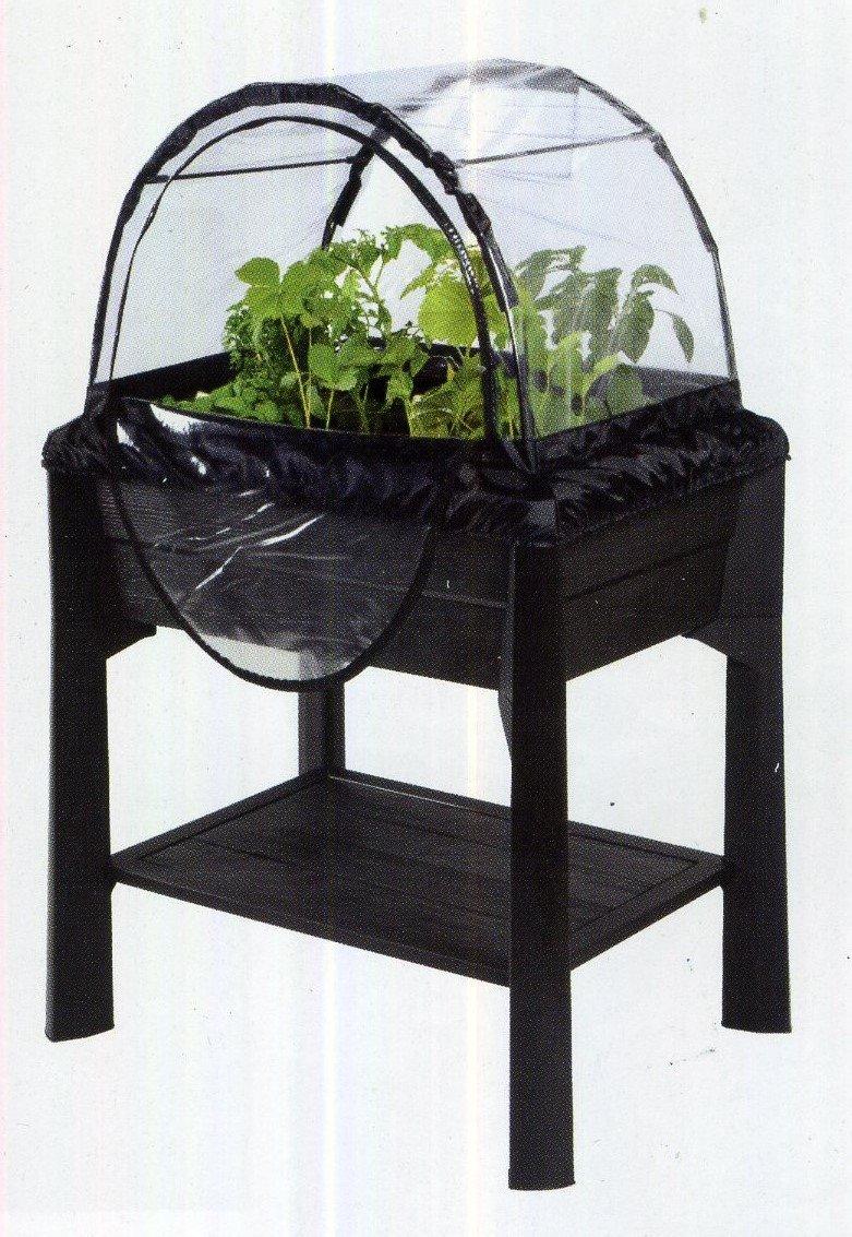 Vegetable mit Gewächshaus scaffalino für tun der Nutzgarten auf dem Balkon Farbe schwarz