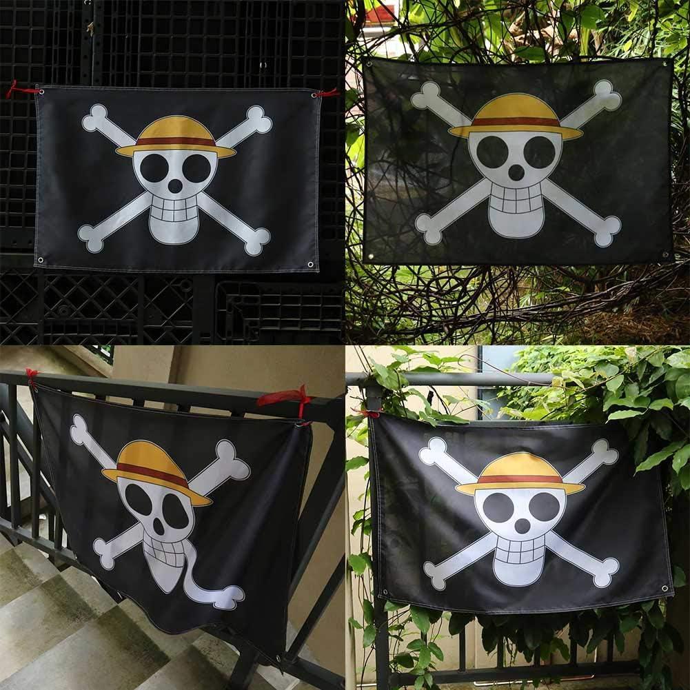 60 x 90 cm Chapeau de Paille en Forme de Drapeau Pirate LACKINGONE