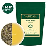 Green Tea Leaves from Himalayas (50 Cups), 100% Natural Weight Loss Tea, Detox Tea & Slimming Tea - POWERFUL ANTI-OXIDANTS - Brew Hot Tea, Iced Tea or Kombucha Tea - Low Caffeine + High Energy Tea