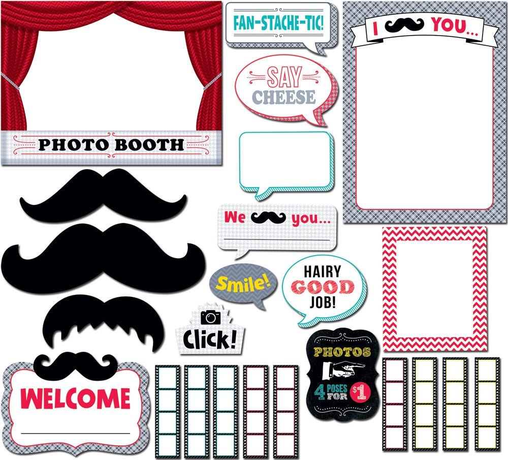 Creative Creative Creative Teaching Prensa bigotes Photo Booth Bulletin Board Set (7051) f177f7