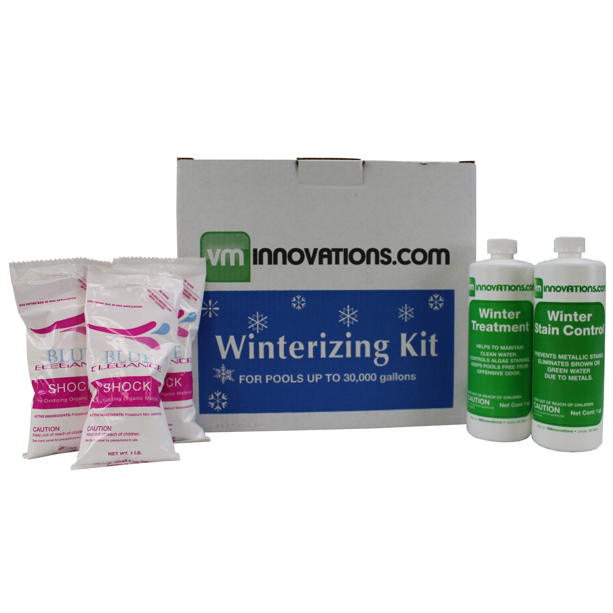 VMInnovations Swimming Pool Winterizing Chemical Treatment Closing Kit - Up to 30,000 Gallons by VMInnovations