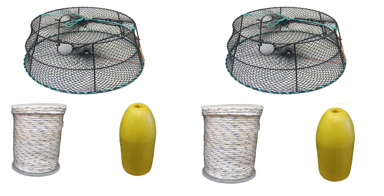 KUFA Sports (CT79+FYM403 Vinyl Coated Crab Ring Trap with Crabbing Accessory Combo (2)