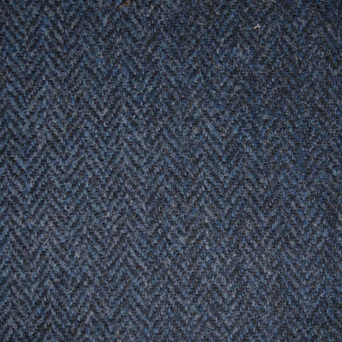 Harris Tweed Fabric /& labels BLUE TARTAN  craft upholstery tailoring patchwork