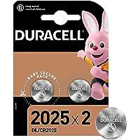 Duracell Pilas de botón de litio 2025 de 3 V, paquete de 2, con Tecnología Baby Secure, para uso en llaves con sensor…