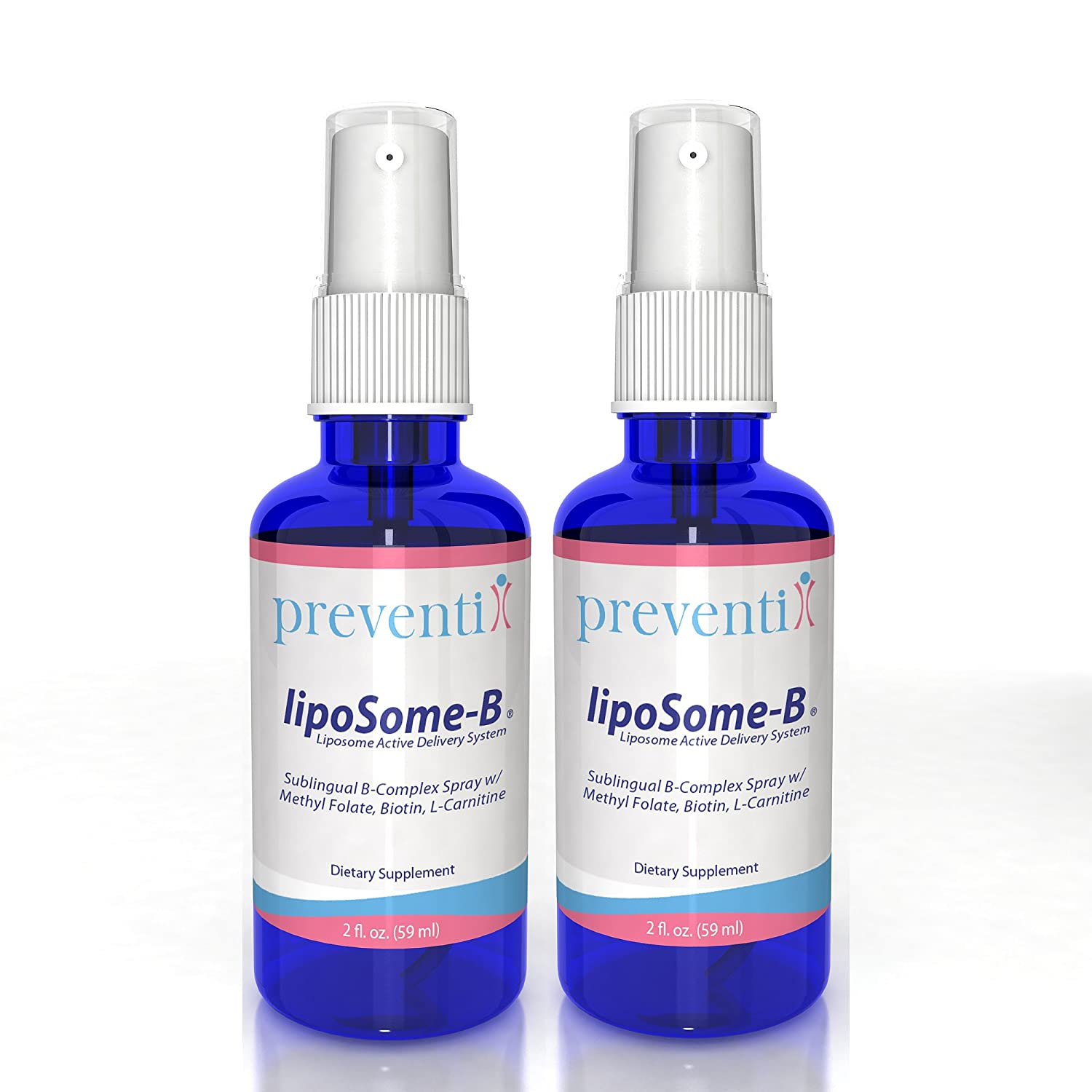 LipoSome B12 Complex Spray_2 Pack Bundle A Superior Liposomal B12 Complex Spray w Methyl Folate, Biotin, L-Carnitine. Advanced liposome Formulation Significantly Increases Absorption bioavailability