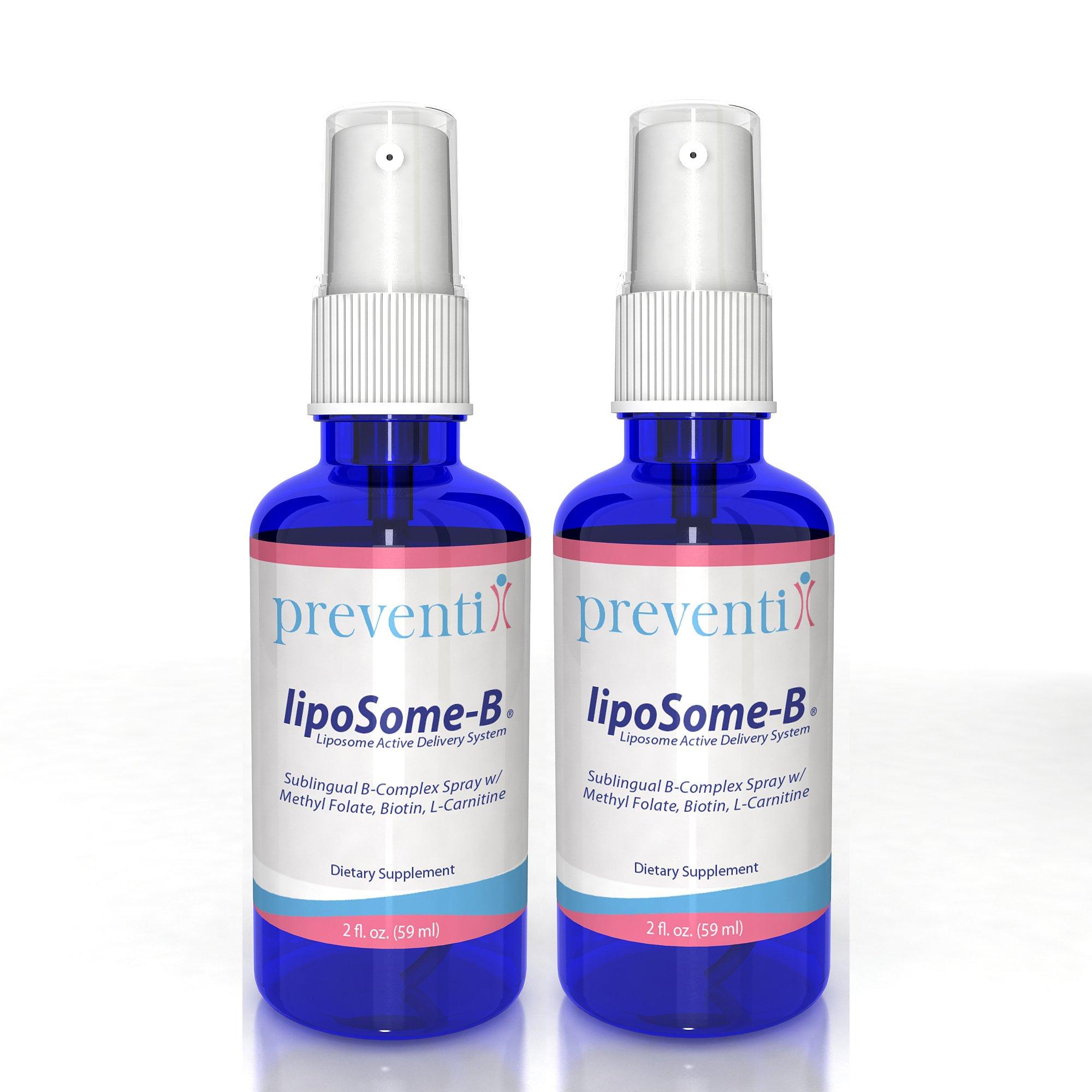 LipoSome B12 Complex Spray_2 Pack Bundle: A Superior Liposomal B12 Complex Spray w/Methyl Folate, Biotin, L-Carnitine. Advanced liposome formulation significantly increases absorption/bioavailability