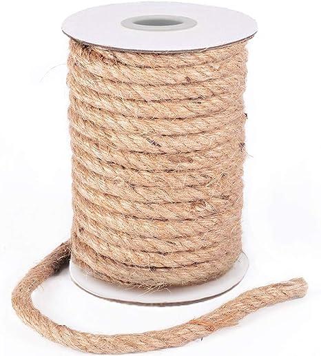 HOMYHOME Cuerda Yute Natural 10mm Cuerda cañamo artesanía ...