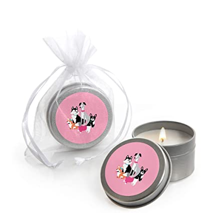 Amazon.com: Pawty Like a Puppy Girl – Vela de lata rosa para ...