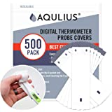Thermometer Probe Disposable Covers (500 Pack of Protective Sleeves) for Use on All Digital Probe Thermometers by Oral…
