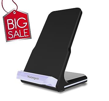 Yuanguo Cargador Inalámbrico Rápido Qi Wireless Charger Cargador Inalámbrico para iPhone 8/8 Plus iPhone X Galaxy S8/S8 Plus/S7/S7 Edge/S6 Edge Plus ...