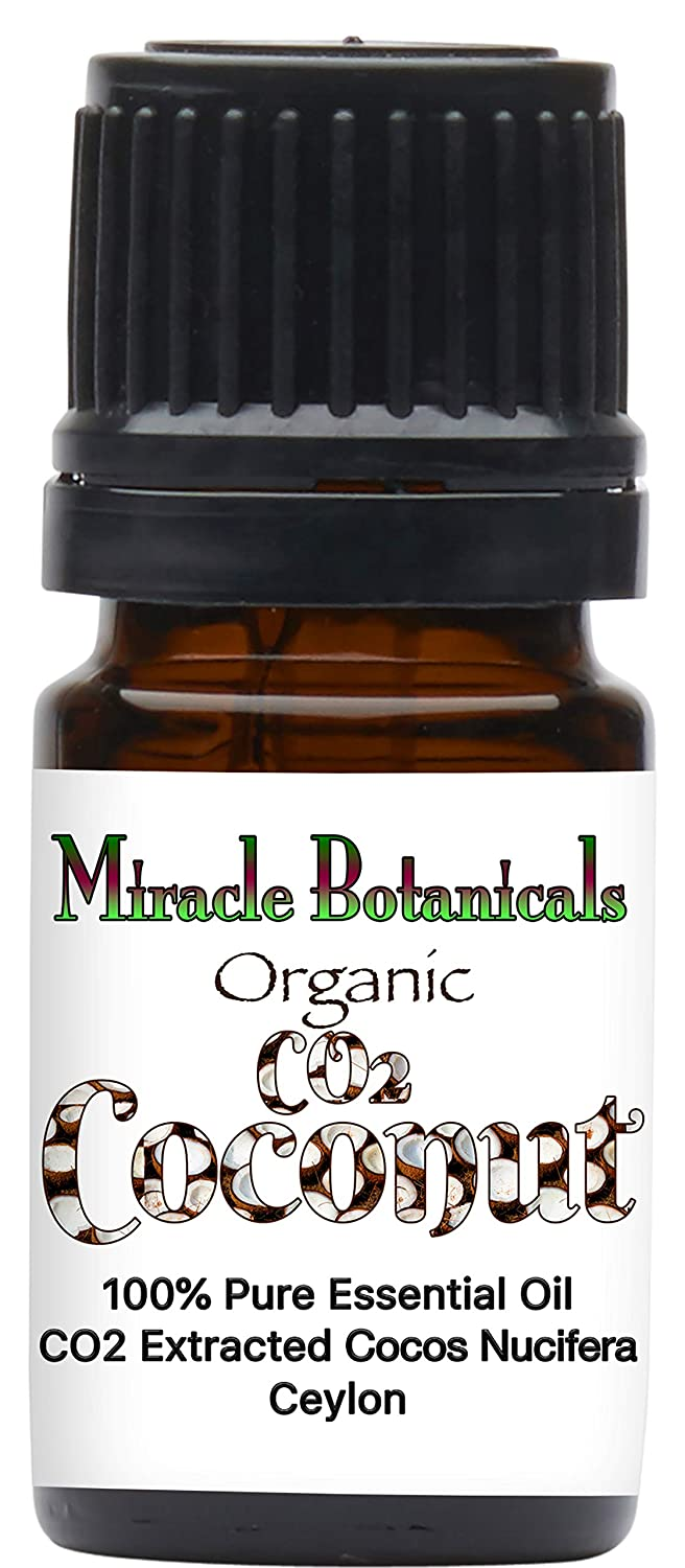Miracle Botanicals CO2 Extracted Coconut Essential Oil - 100% Pure Cocos Nucifera - Therapeutic Grade - 5ml, 10ml or 30ml Sizes - 5ml