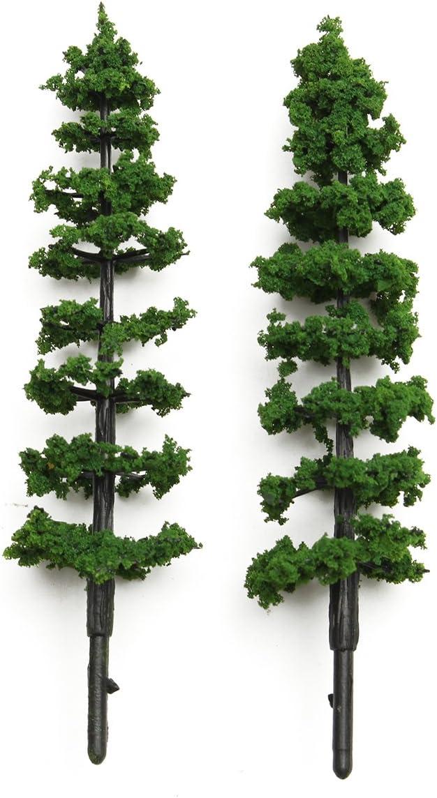 VIDOO 20Pcs 1 100 Arbres De Sapin Mod/èle Train Road Vert Street Park Garden Scenery Ho Oo N