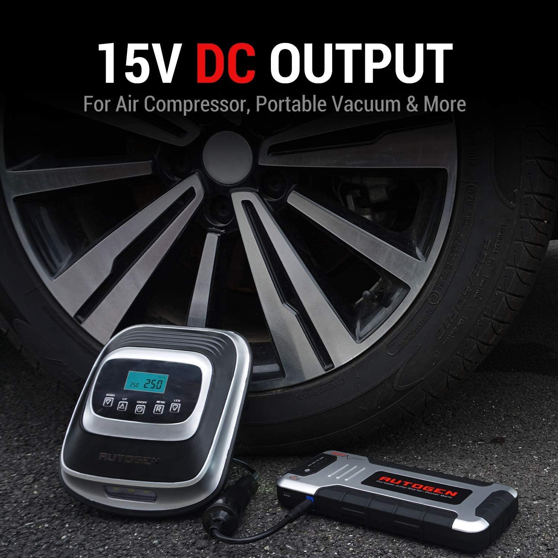 per Motori 12V Benzina 8.0L e Diesel 8.0L 2500A Avviatore Emergenza Caricabatterie Portatile Power Pack con Ricarica Rapida USB 3.0 AUTOGEN Avviatore Batteria Auto Booster Batteria Automatico 12V