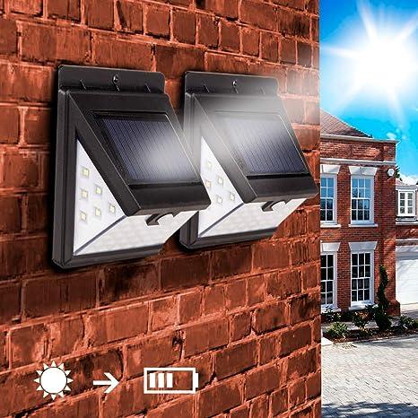 Mpow Solarlampe mit Bewegungsmelder 40LED Solarstrahler Außenleuchte Gartenlampe